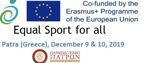 "2019-Οκτώβριος, International Conference at University of Patras  ""Equal Sports for all"". Presentation of Project ""Descrοptio"" visible sports for all."